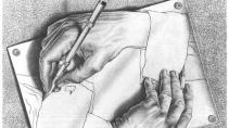 Manos dibujando - Escher
